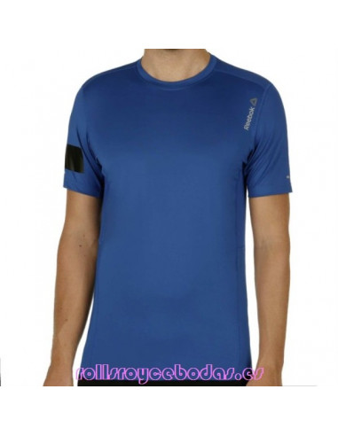 Reebok OS Advantage Stretch a Maniche Corte da Uomo Top Abbigliamento blu