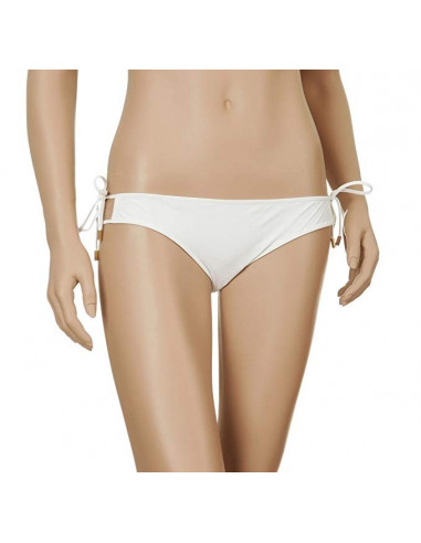 Slip bikini con passanti e laccetti chloe bianco