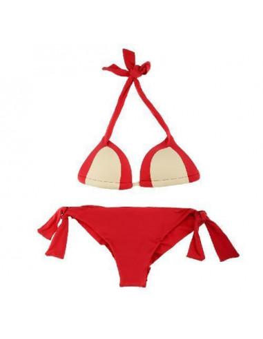 Byblos Bikini Triangolo Imbottito E Brasiliana Rosso