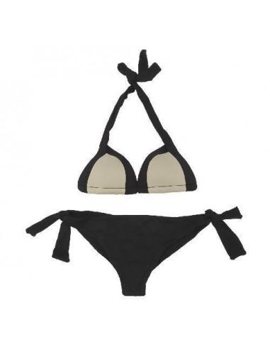 Byblos Bikini Triangolo Imbottito E Brasiliana Nero-Grigio