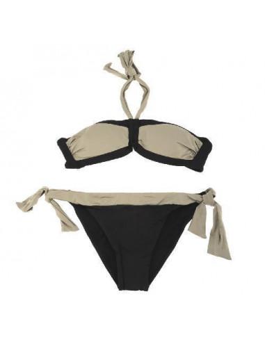 Byblos Bikini Triangolo Imbottito E Slip Fiocchi Nero