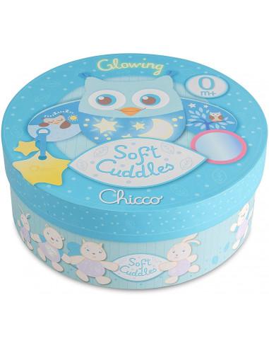 Chicco 7704 - Soft Cuddles Pannello, Gufo, Azzurro