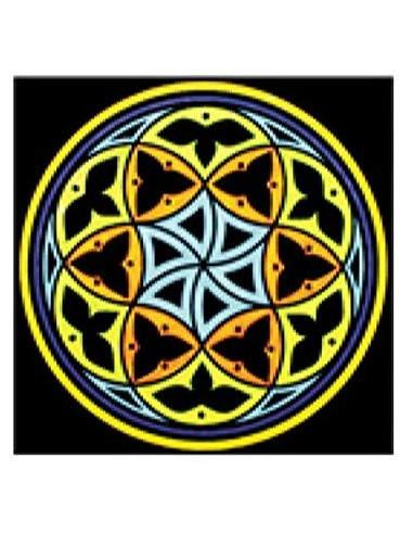 Colorvelvet MA01 - Disegno 32x32 cm Mandala Autostima + 12 PENN. ASSORTITO