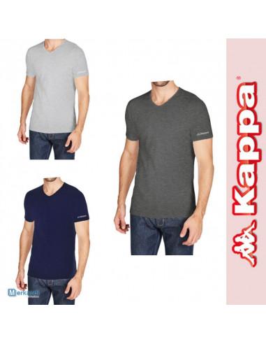 Maglie uomo manica corta ROBE DI KAPPA T-shirt BLU NAVY K1315 scollo a V