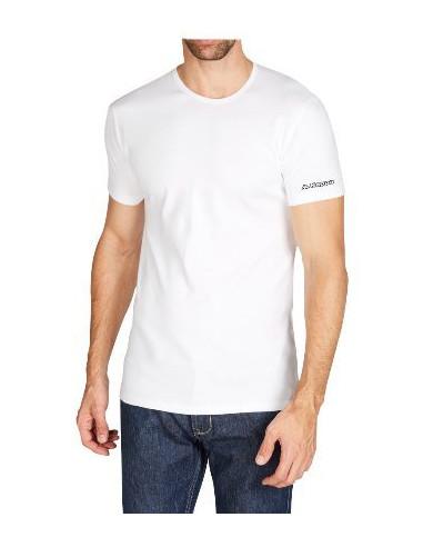 Maglie uomo manica corta ROBE DI KAPPA T-shirt BIANCA K1305 GIROCOLLO