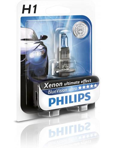 Philips 681331 Ultra Blue Lampadina 1 H1, 12V, 55 W [Classe di efficienza energetica C]