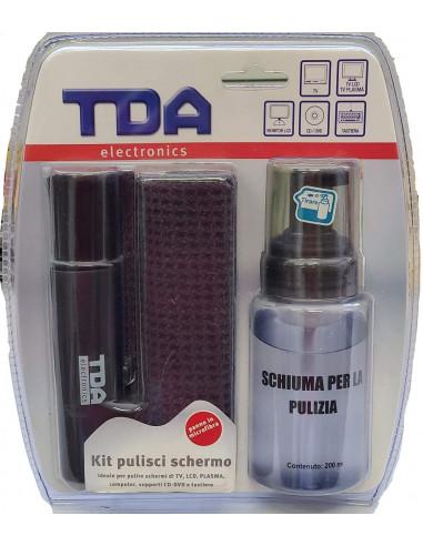 Kit Pulisci schermo - Include un Flacone Spray due Panni in Microfibra e Spazzola