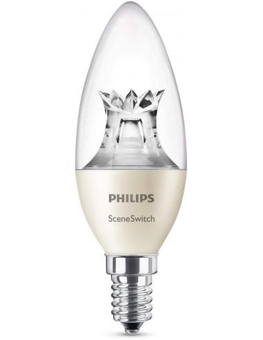LAMPADA LED CANDELA 40W E14 2700/2500/2200K SCENE SWITCH PHILIPS A+