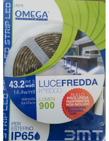STRISCIA LED UTILIZZABILE PER PROLUNGA / 18 W / 30 PCS SMD5050 / RICAMBIO 3 MT