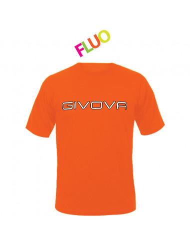 T-shirt Spot Manica Corta Uomo Givova MA008 Arancio Fluo