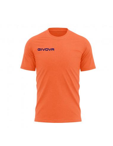 T-shirt Fresh Manica Corta Uomo Givova MA007 Arancio Fluo