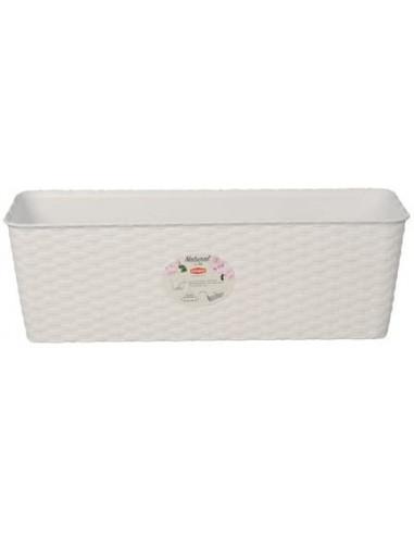 Stefanplast Balconetta Vaso Fioriera Natural Lunghezza Cm 40 Colore Bianco