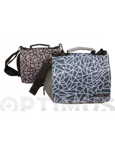 LUNCH BAG SMART MOSAICO blu 31X15X20 CM