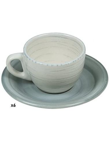 SET DI 6 TAZZINE DA CAFFÈ TWISTBLU31X14X20CM