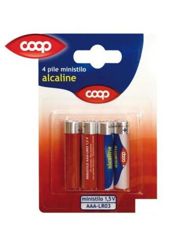 4 pile ministilo Alcaline Coop