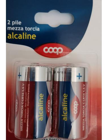 2 pile Mezza torcia alcalina Coop