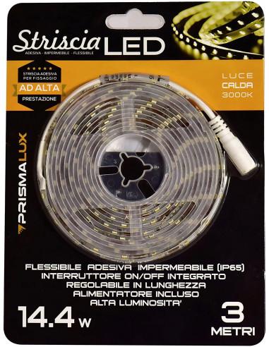 Prismalux LSK3MT65-C Striscia LED Completa 14.4 W, Bianco, 8 x 3m [Classe di efficienza energetica A]