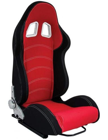 Sedile Sportivo Regolabile Rosso E Nero SUMEX SSF1018