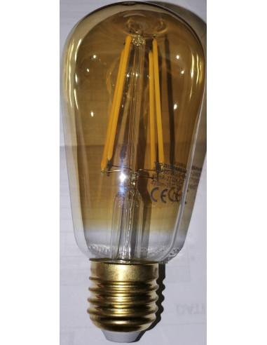 Lampadina Ambrata LED 5.5W E27 ATTACCO GRANDE 470 LUMEN