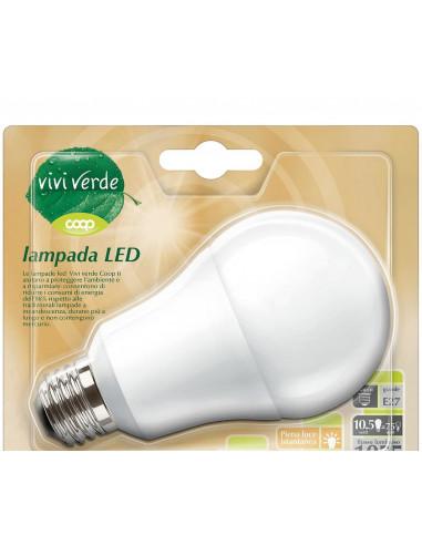 LAMPADA GOCCIA LED DURATA 15000 H, ATTACCO E 27, 1055 LUMEN, CL. ENERG. A+