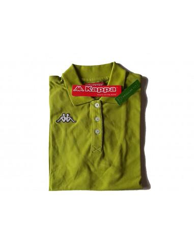 KAPPA POLO DONNA T-SHIRT 3024WU0 CAROLS 966 BRIGHT GREEN GREY