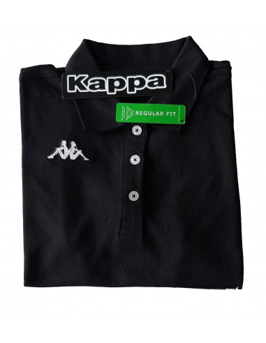 KAPPA POLO DONNA T-SHIRT 302LQY0 LADY 005 BLACK