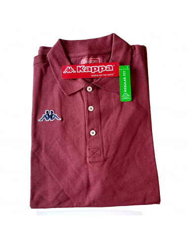 KAPPA POLO UOMO T-SHIRT 302FWP0 WOOP XF6 RED RUGBY