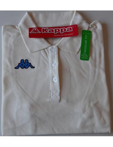 KAPPA POLO DONNA T-SHIRT 3024WU0 CAROLS 976 ANTIQ WHITE STRONG BLU