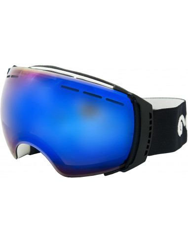Ocean Sunglasses Aconcagua, Occhiali da Sci, Montatura: Bianco, Lenti: Blu Specchiate, YH, 3502.1