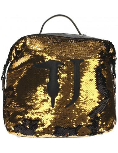Trussardi Jeans M661 Gold/TOBAC T-Wow Night BACKPA Borsa Donna Zaino 75B00733