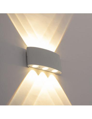 """APPLIQUE A LED """"CARLO""""LED6 X 0,8 WA+ALLUMINIOCOLOR"""