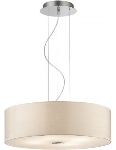 LAMPADA A SOSPENSIONE IN METALLO, PVC E VETRO EFFE