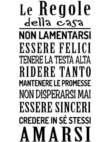 STICKER REGOLE DELLA CASANERO100X50 CM