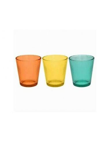SET 3 BICCHIERI GLASS GOLFARANCIONE, GIALLO E VERD