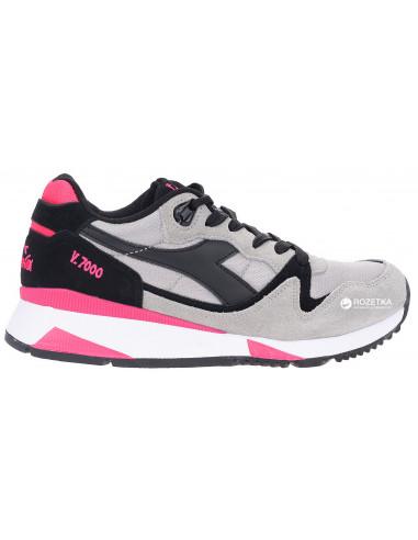 Diadora Sneakers V7000 Nyl Ii Grigio Cenere E Nero