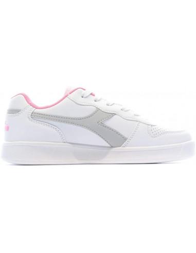 Diadora Sneakers Playground Gs Rosa E Bianco