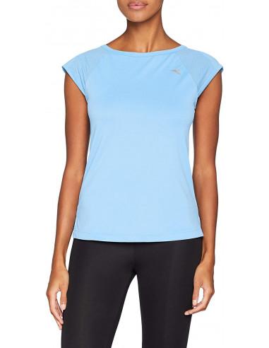 Diadora T-Shirt Azzurro Regular Fit, Donna