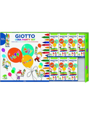 Giotto Party Set Cera - Confezione Da 10 Blister Cera Per Giocare Tutti Insieme