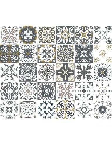 Ambiance Set di 30 adesivi murali Mosaico Antalya 10 x 10 cm 0527