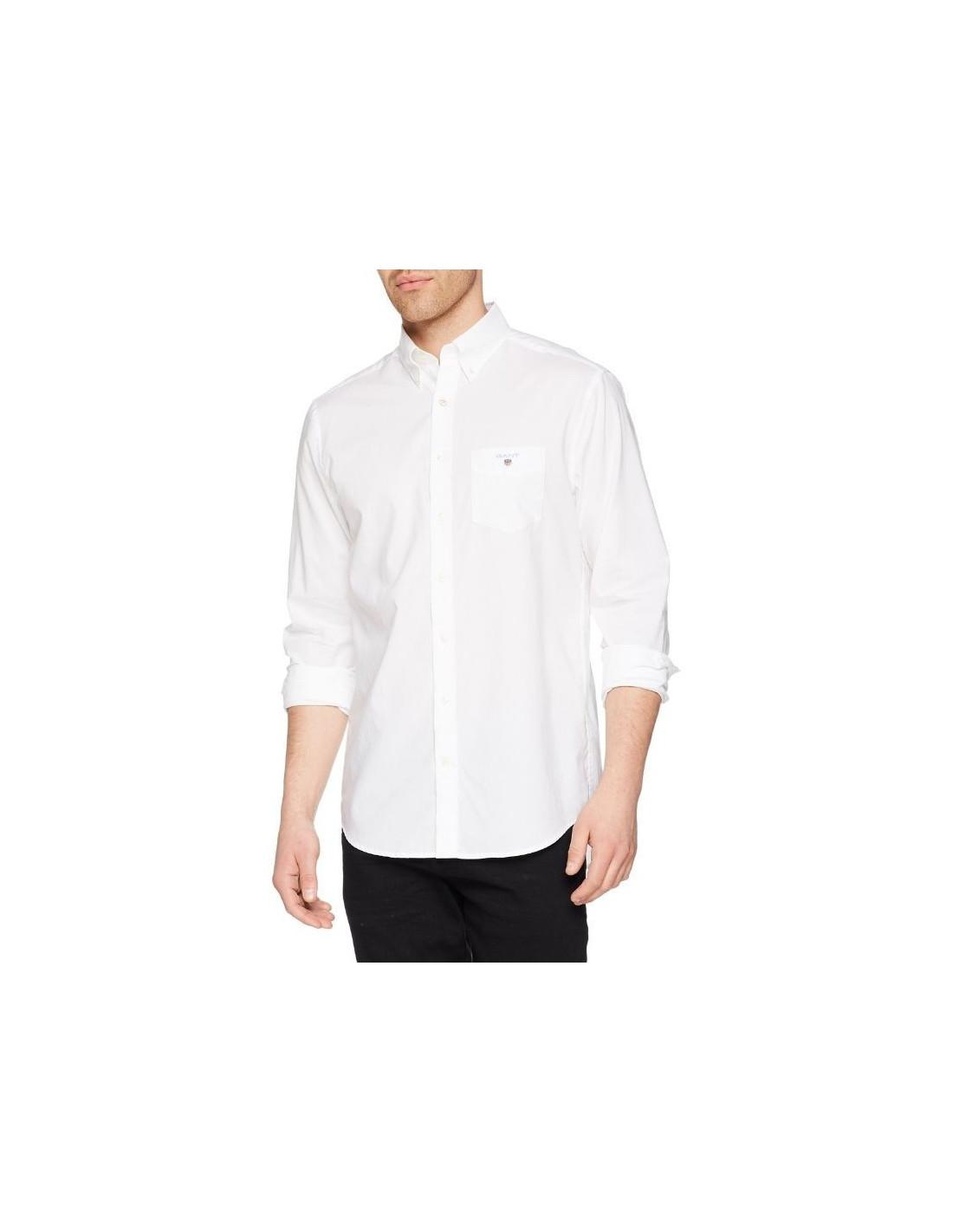 Gant Camicia Uomo Regular 3046400 Bianco 2xl Bianco Gant